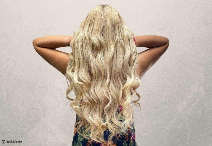 champagne blonde hair