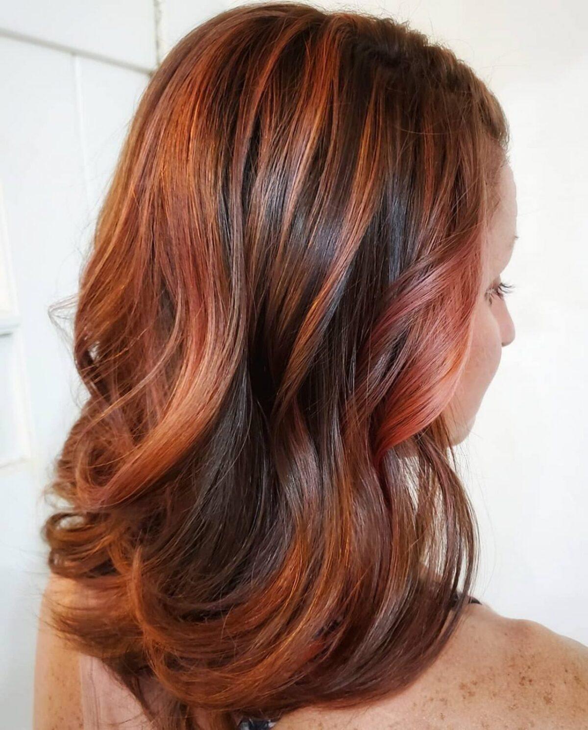 Perfect Copper Rose Gold Highlights pour les brunes