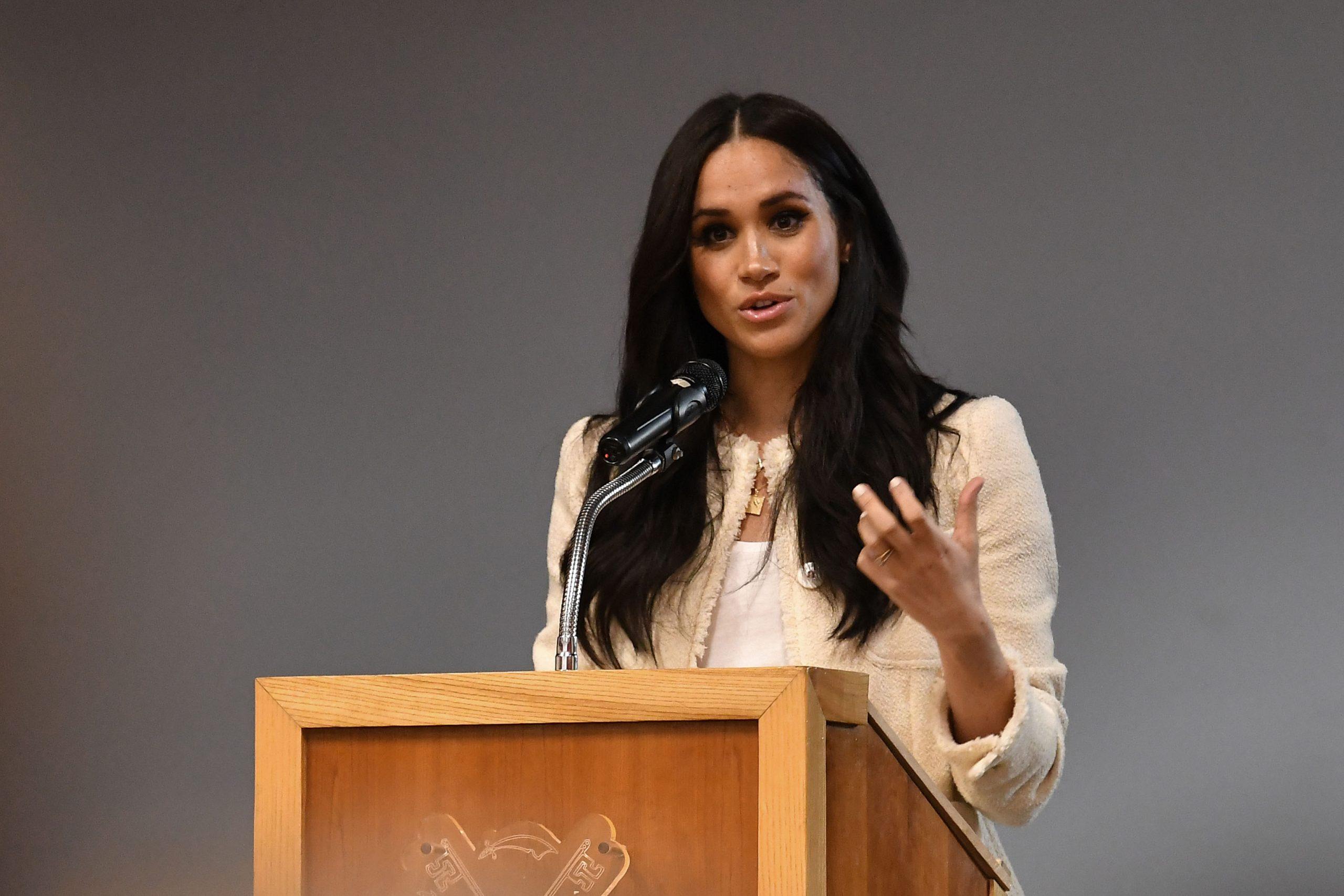 Meghan Markle speaking publicly