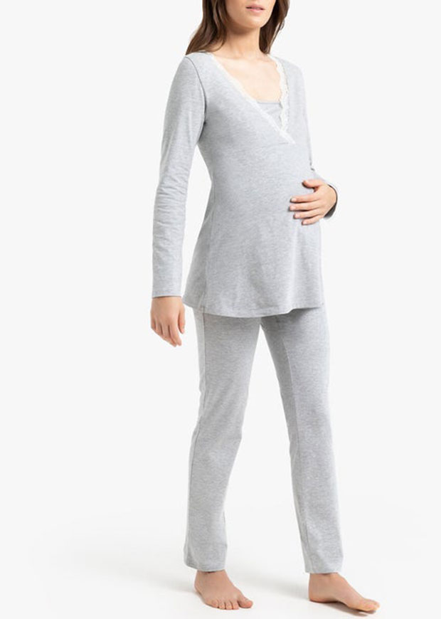 La Redoute Cotton Mix Maternity/Nursing Pyjamas