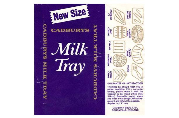 barre de chocolat rétro - milk tray bar
