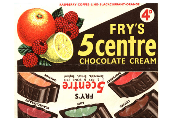 Barres de chocolat rétro Fry's - 5centre