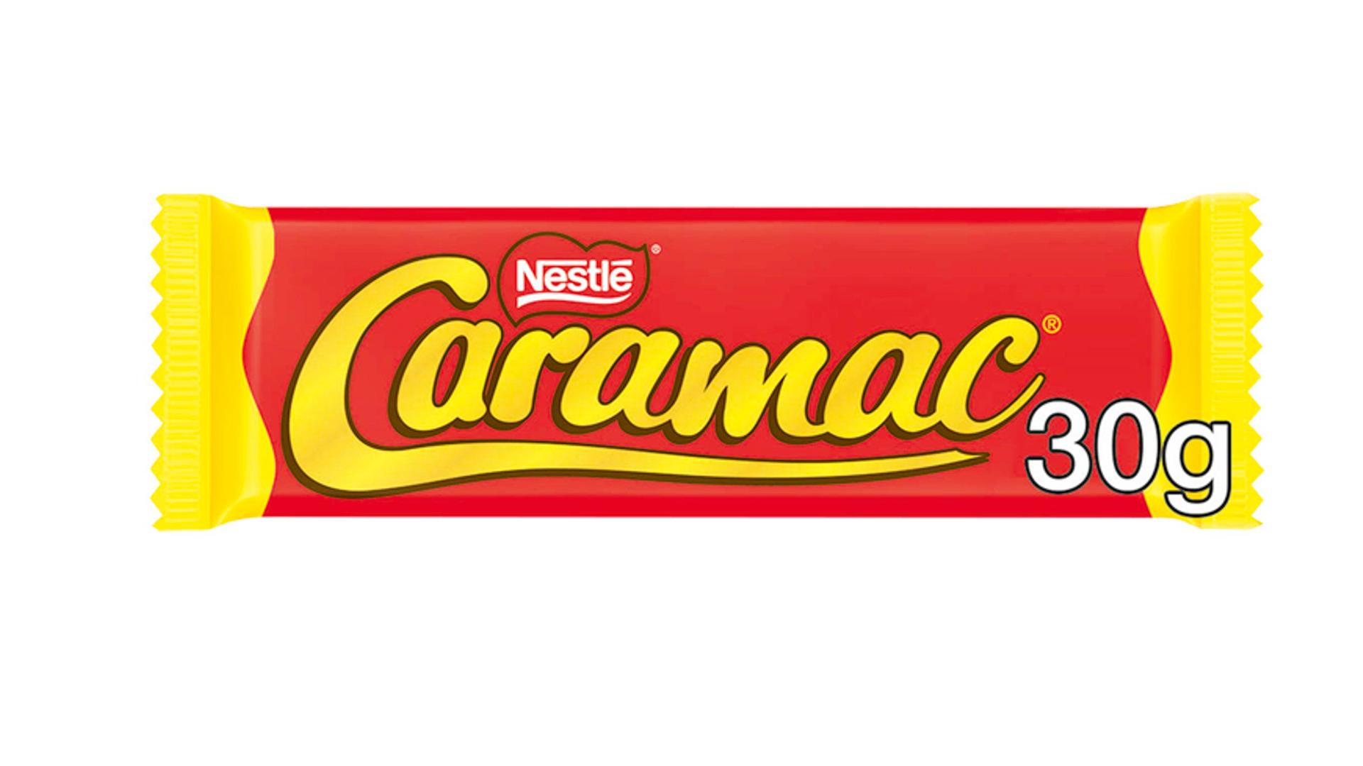 barre de chocolat caramac nestle