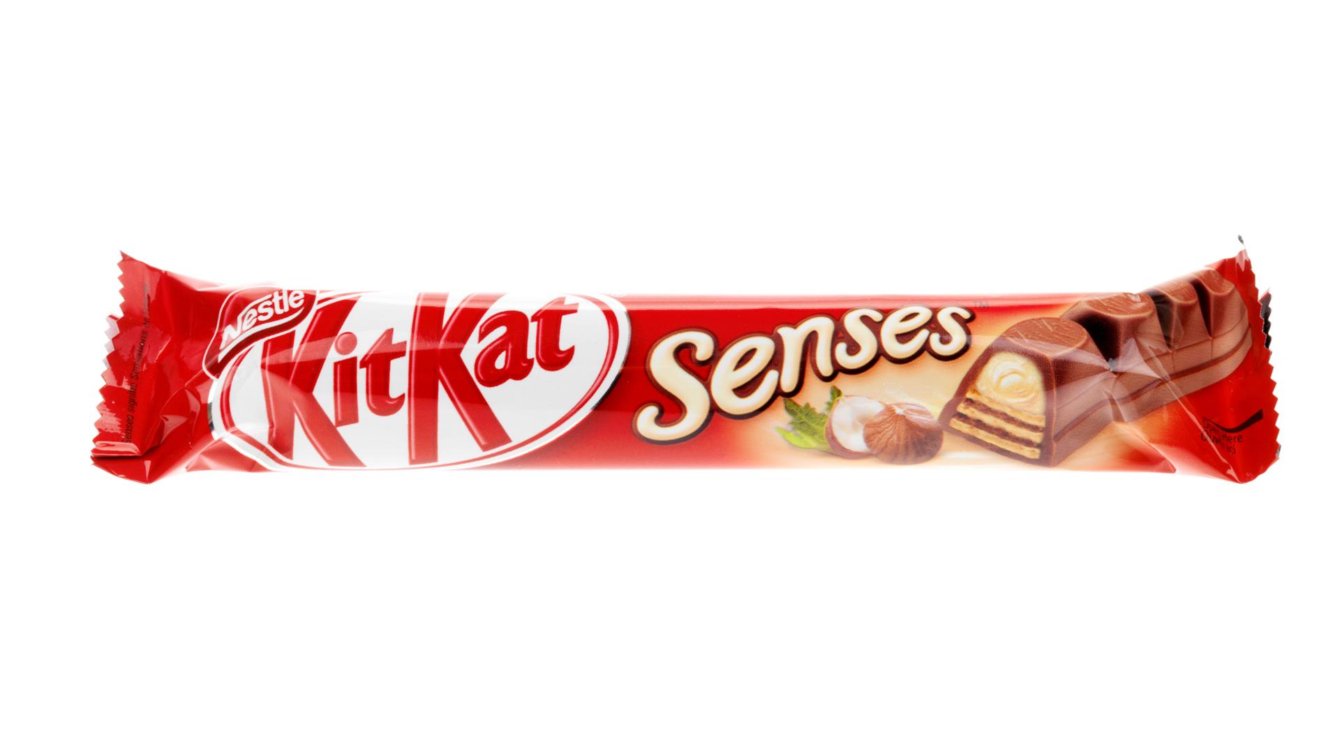 barre de chocolat rétro - kitkat senses