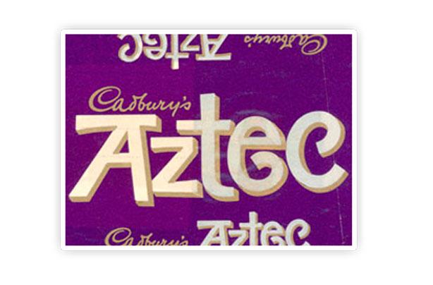 Barre de chocolat aztèque de Cadbury