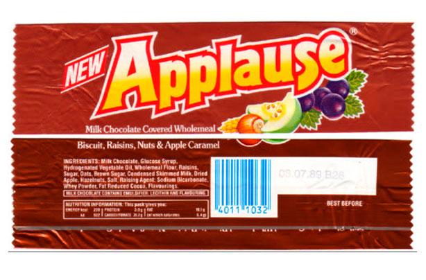 Barres de chocolat rétro Applause