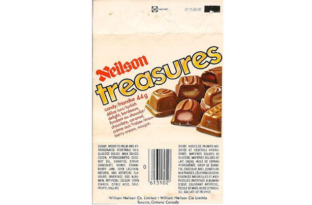 Trésors de la barre de chocolat