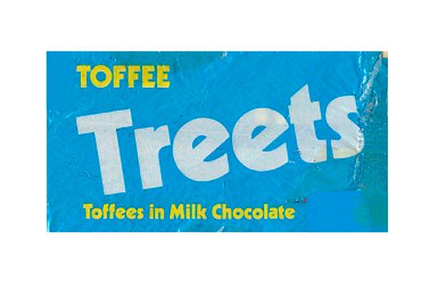 barres de chocolat rétro caramélisées Treets