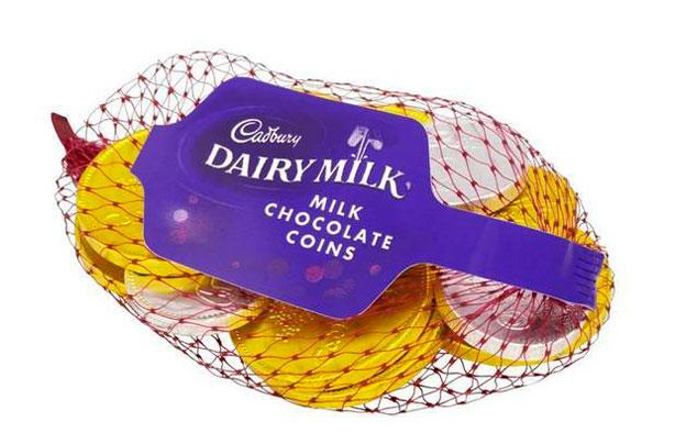 Pièces de chocolat au lait