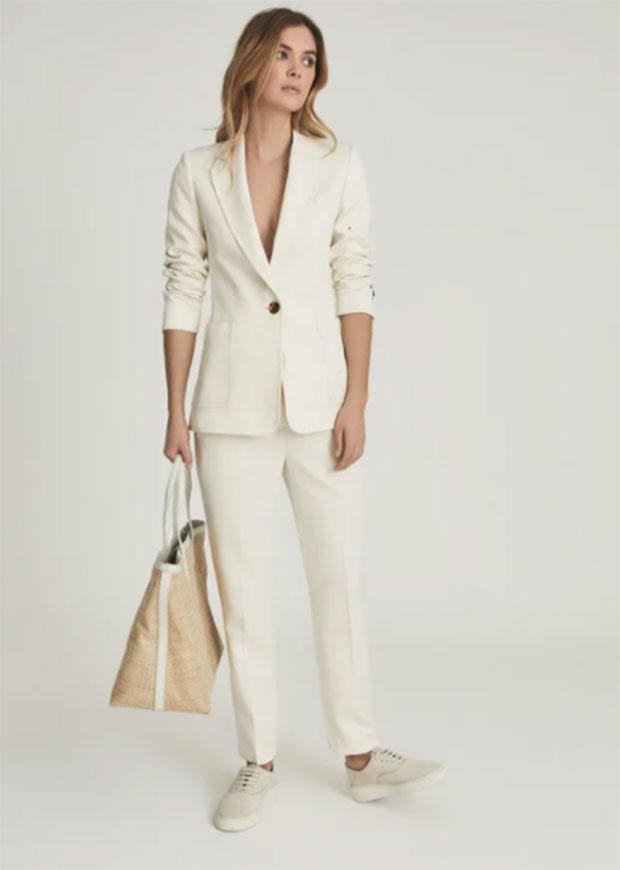 Blazer simple boutonnage Reiss Ember et pantalon de tailleur slim.