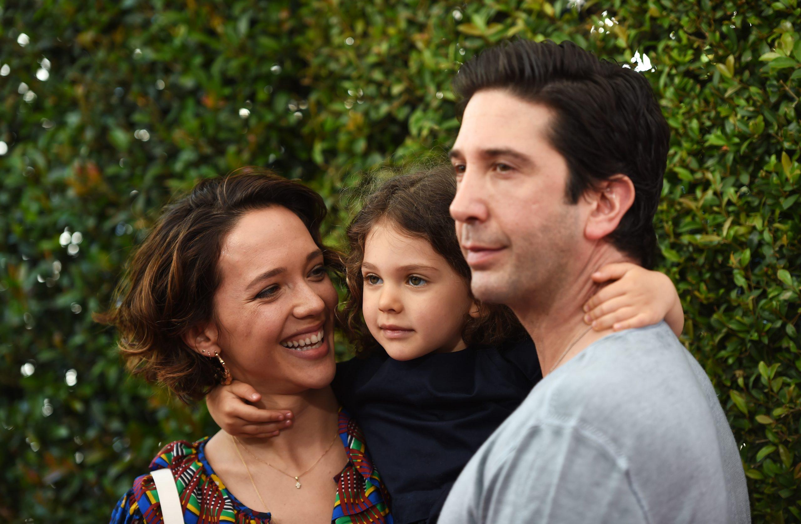 David Schwimmer, Zoe Buckman et leur fille Cleo.