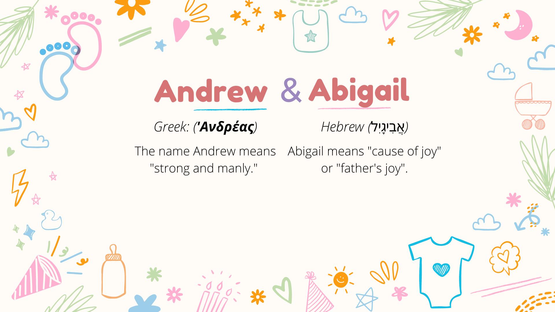 signification des noms andrew et abigail