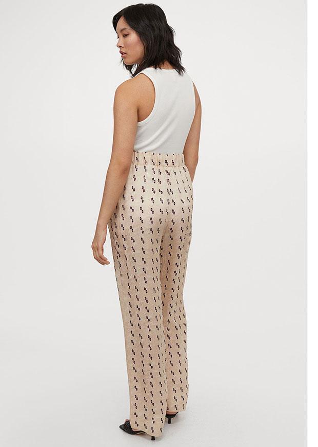 H&M Silk-Blend Trousers