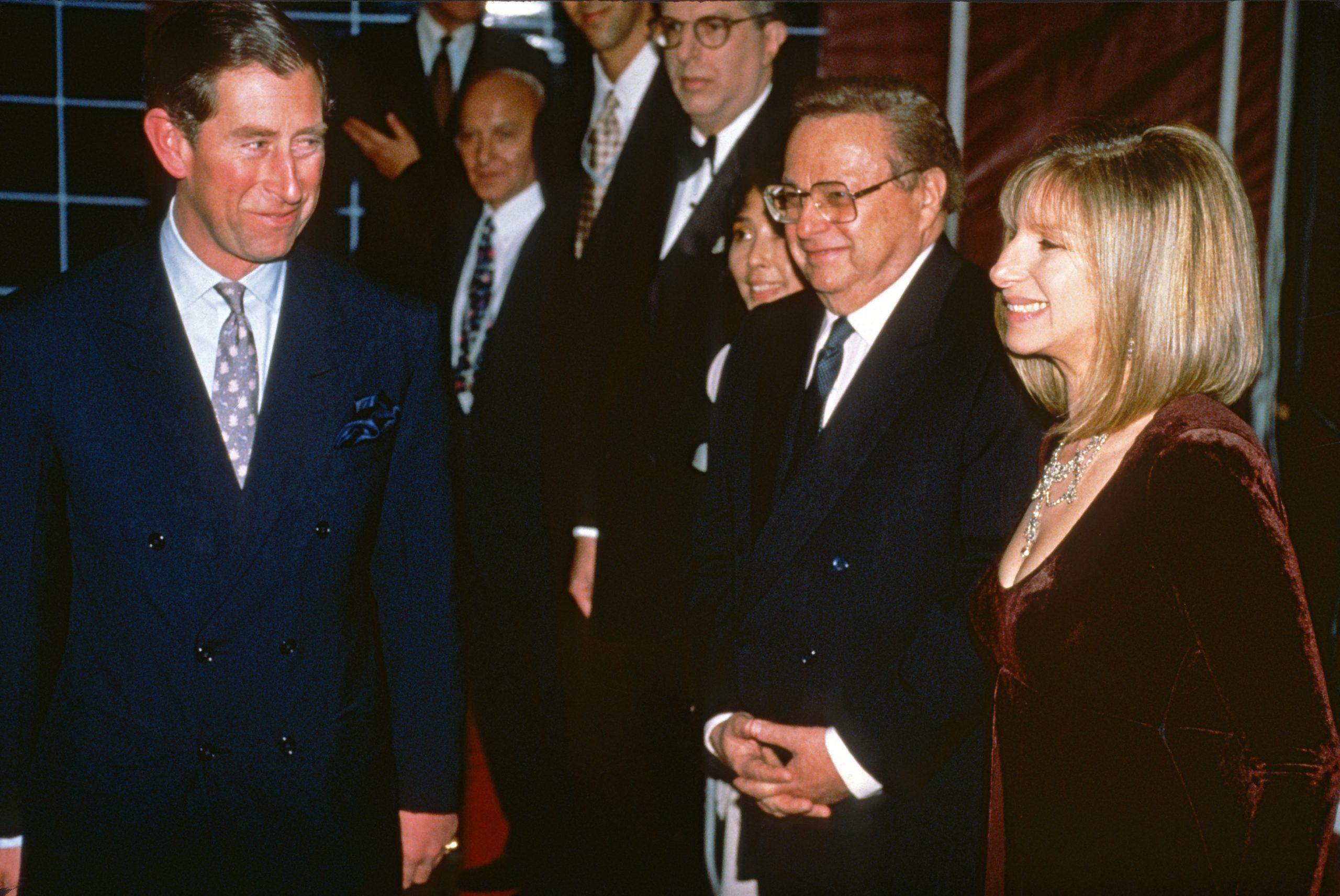 Barbara Steisand et le Prince Charles