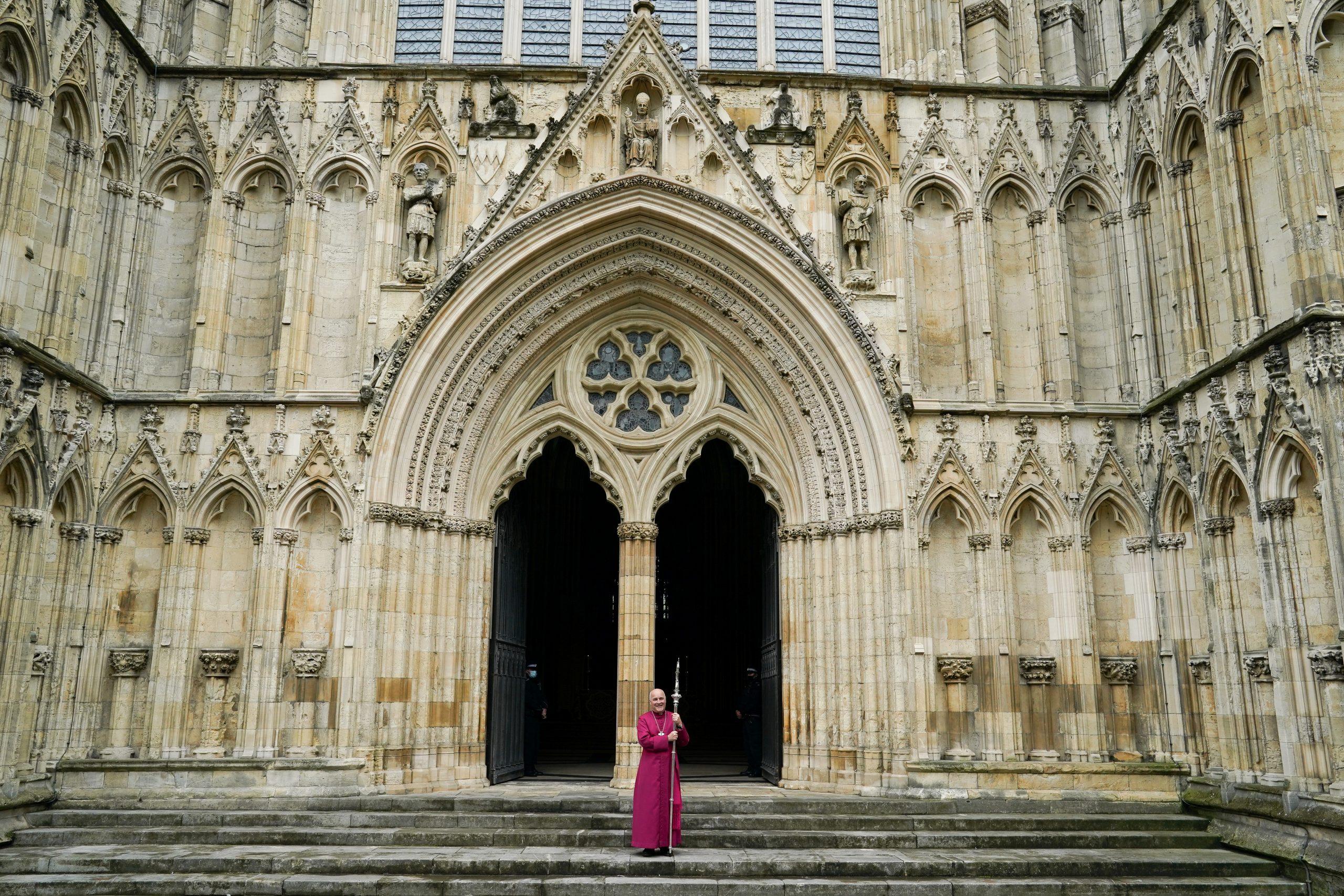 York minster, emplacement de la statue de la Reine