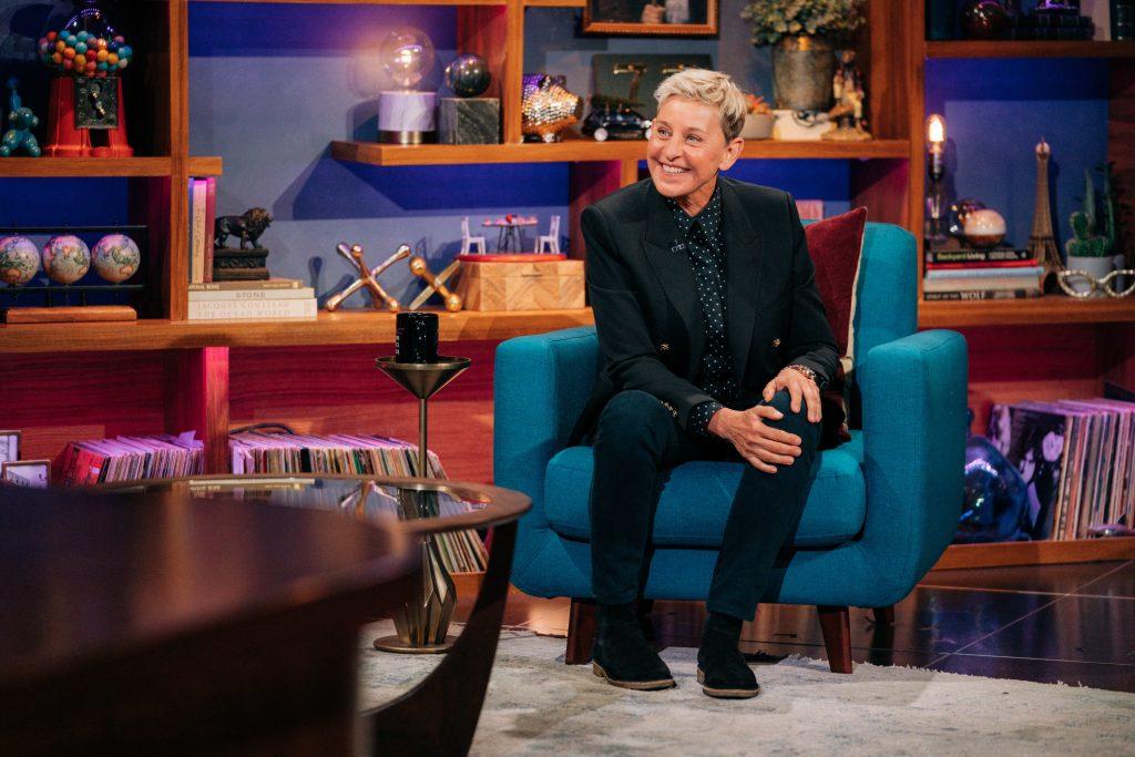 Ellen Degeneres dans le Late Late Show avec James Corden.
