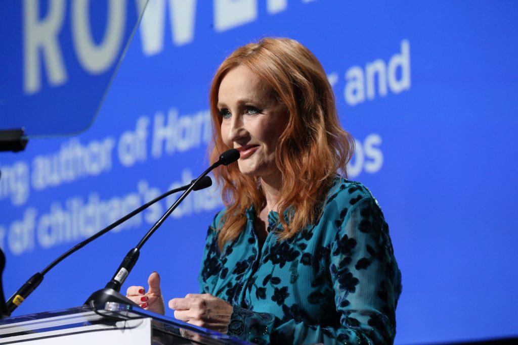 JK Rowling recevant un prix