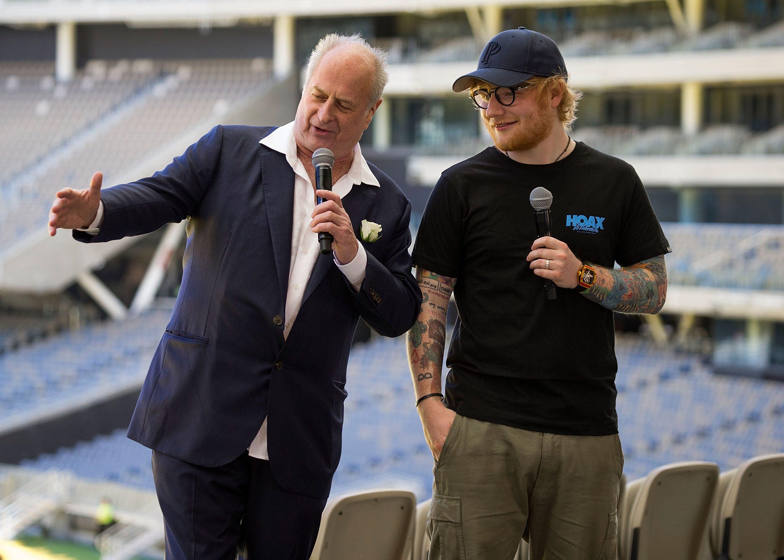 Ed Sheeran et Michael Gudinski