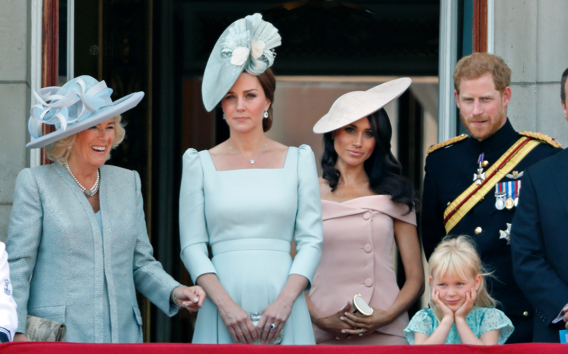Duchess Camilla, Prince Harry, Meghan Markle, Kate Middleton