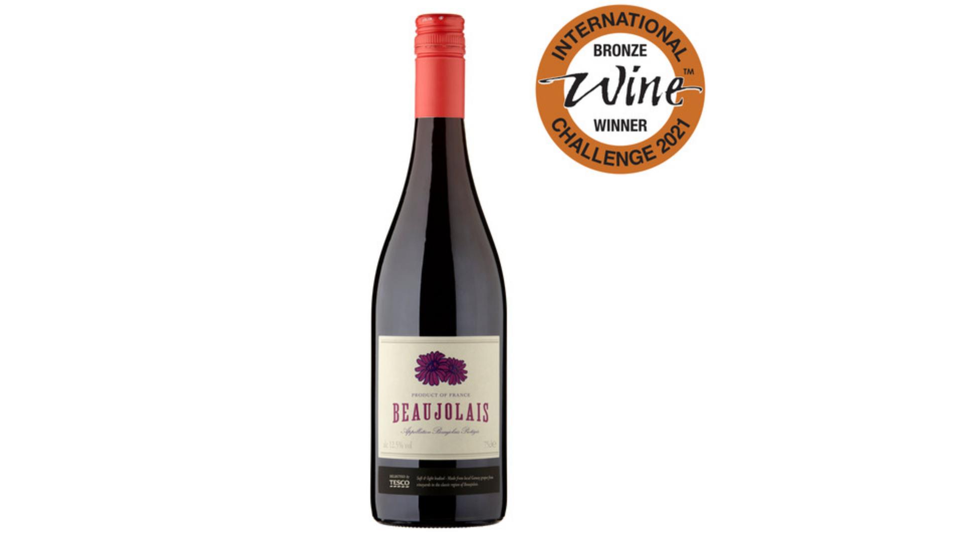 l'un des meilleurs vins bon marché - Tesco Beaujolais Rouge