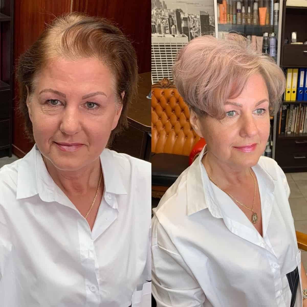 Coupe Pixie Wavy pour les femmes de plus de 70 ans