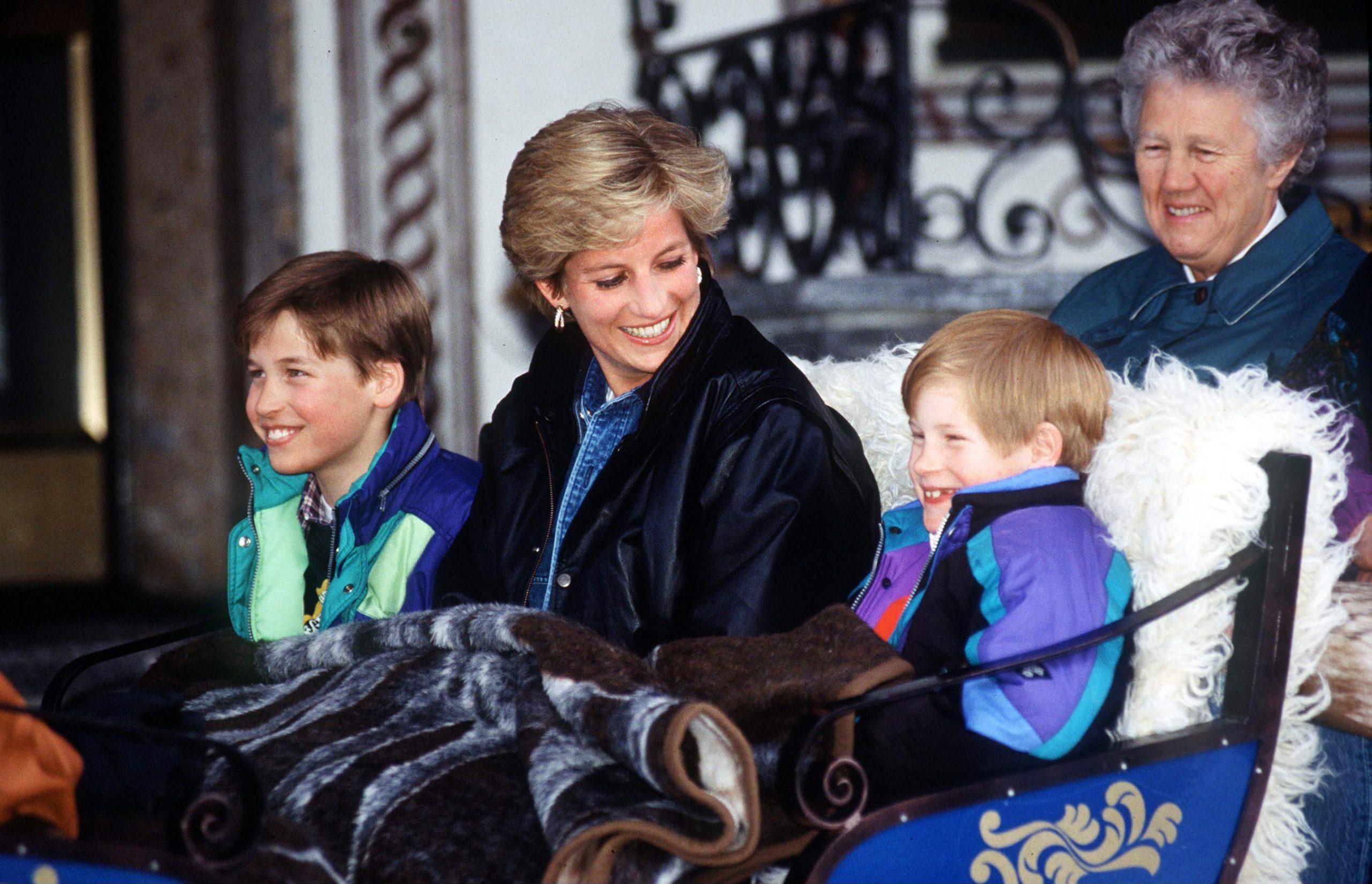 La Princesse Diana, le Prince Harry et le Prince William