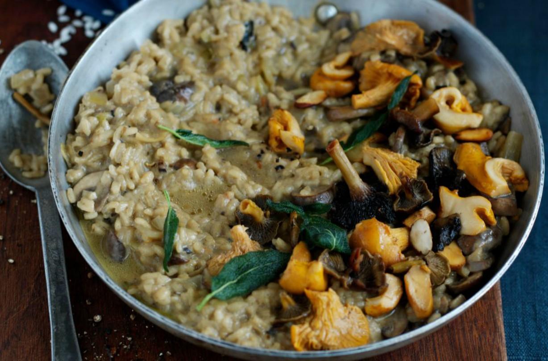 risotto aux champignons sauvages