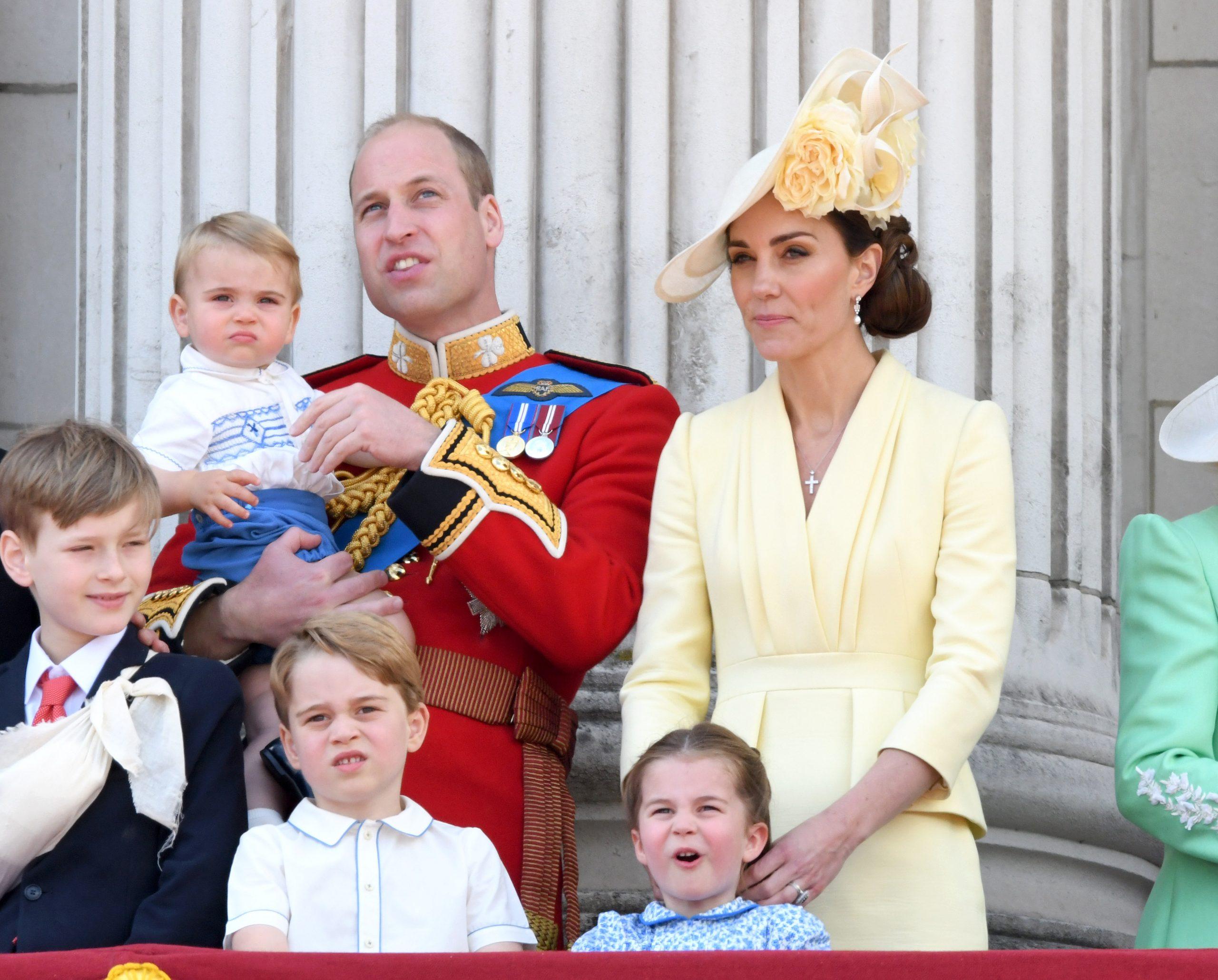 Le Prince George, la Princesse Charlotte et le Prince Louis