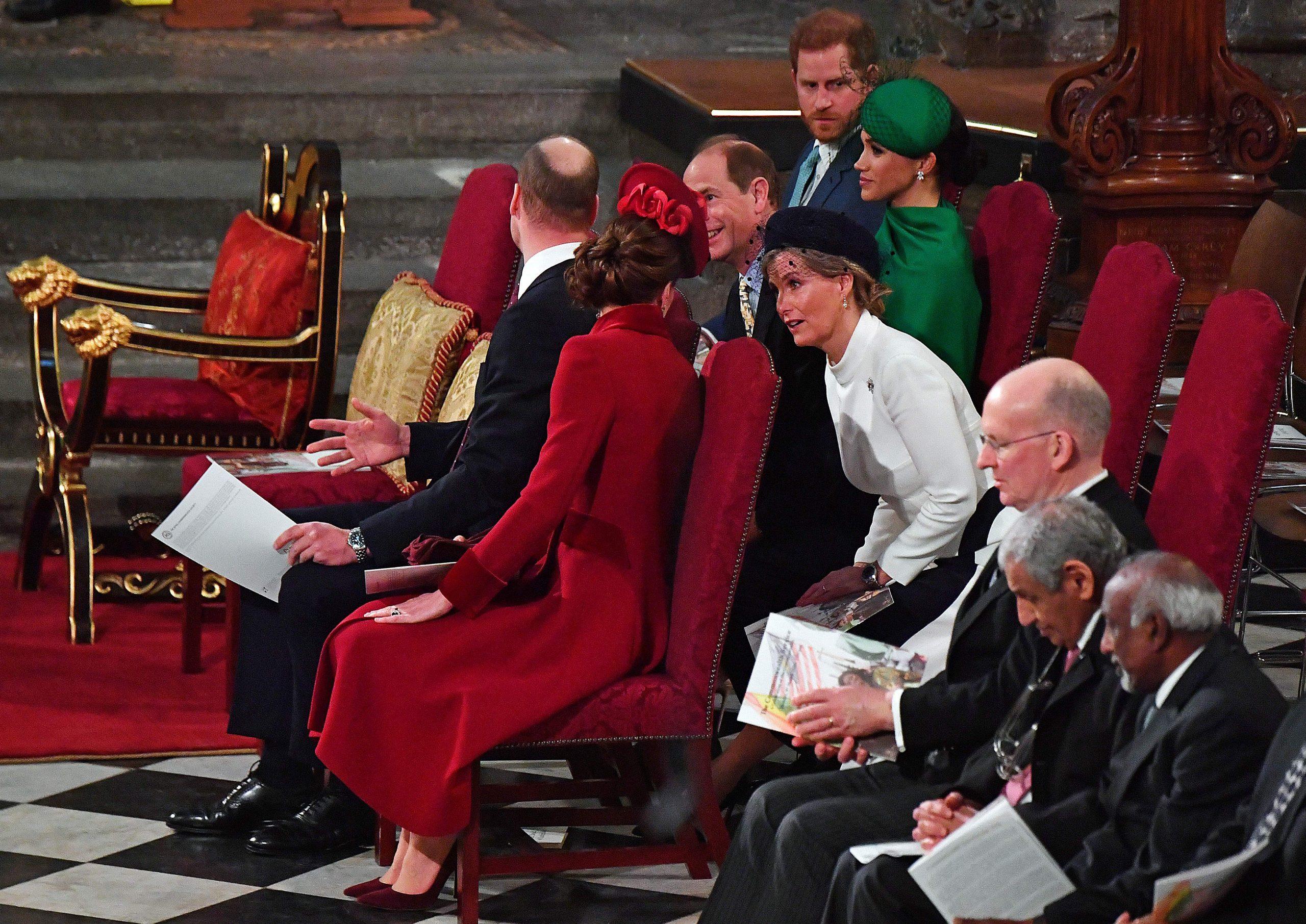 Prince Harry, Meghan Markle, Prince William et Kate Middleton, Edward et Sophie Wessex