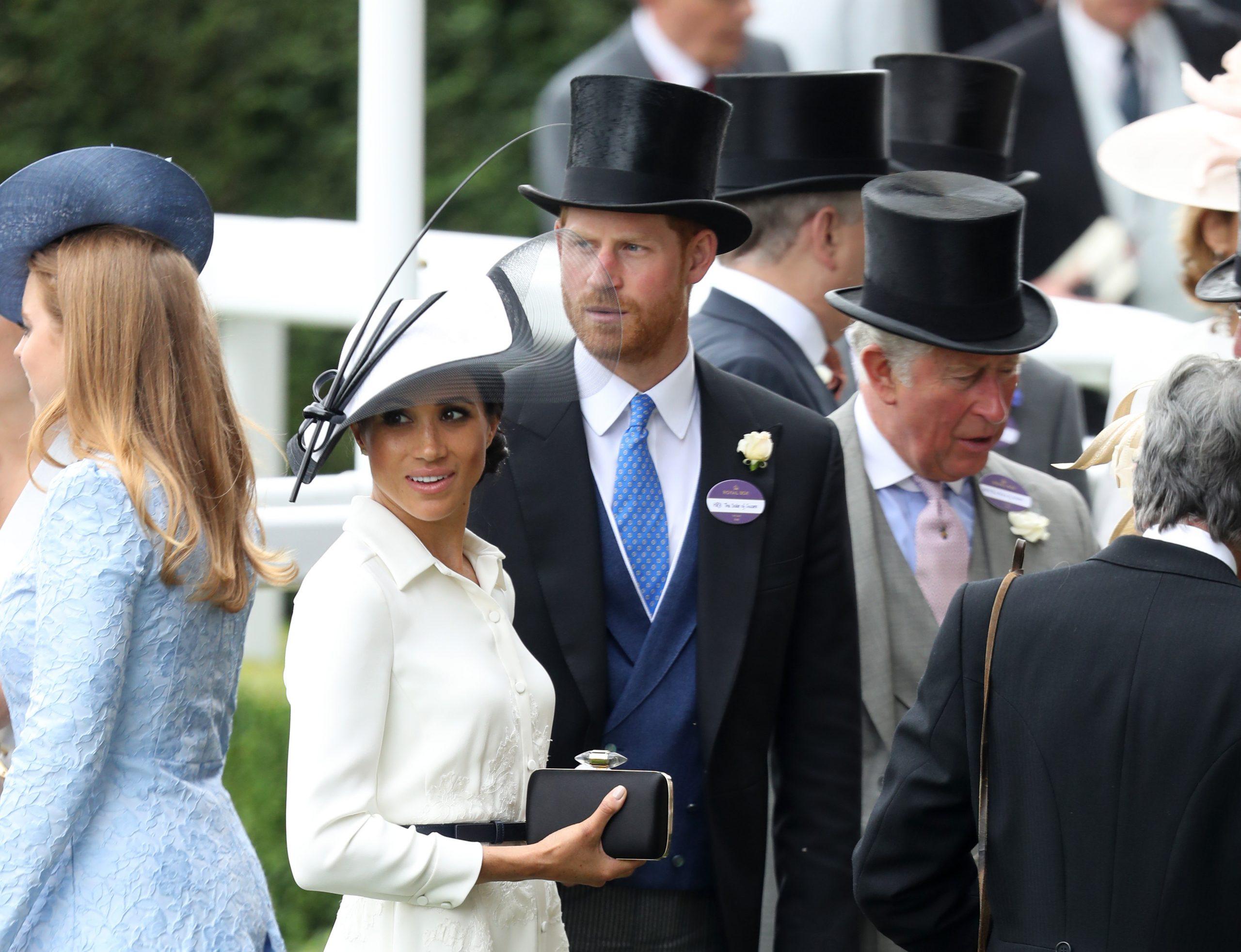 Le prince Harry, Meghan Markle et le prince Charles