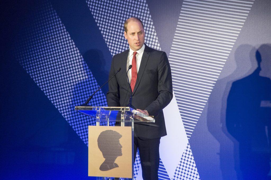 Le prince William, duc de Cambridge, prononce un discours lors de la remise du prix Diana au palais St James, le 18 mai 2017.