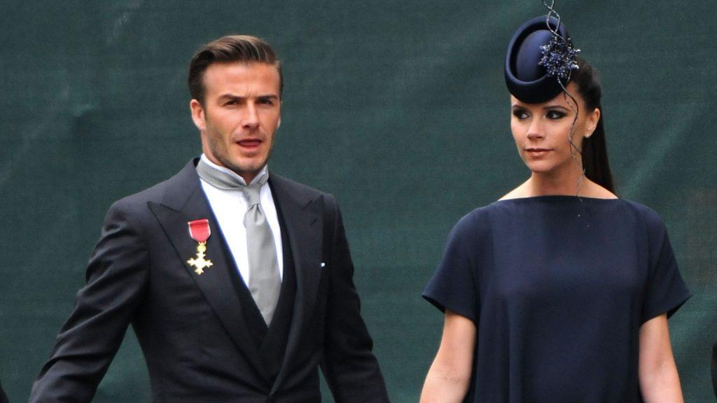 David Beckham et Victoria Beckham arrivent pour assister au mariage royal du Prince William et de Catherine Middleton à l'Abbaye de Westminster le 29 avril 2011 à Londres, Angleterre.