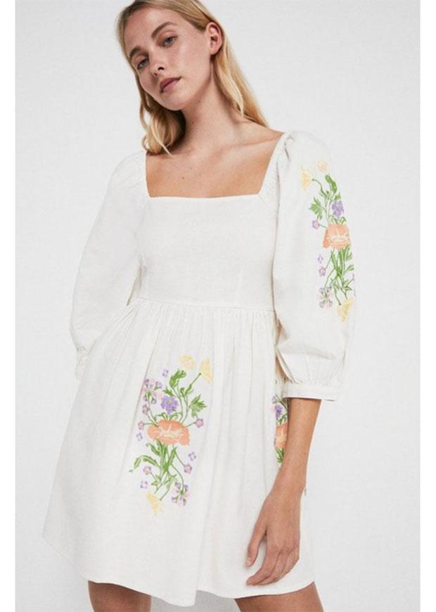 Mini robe brodée de Warehouse