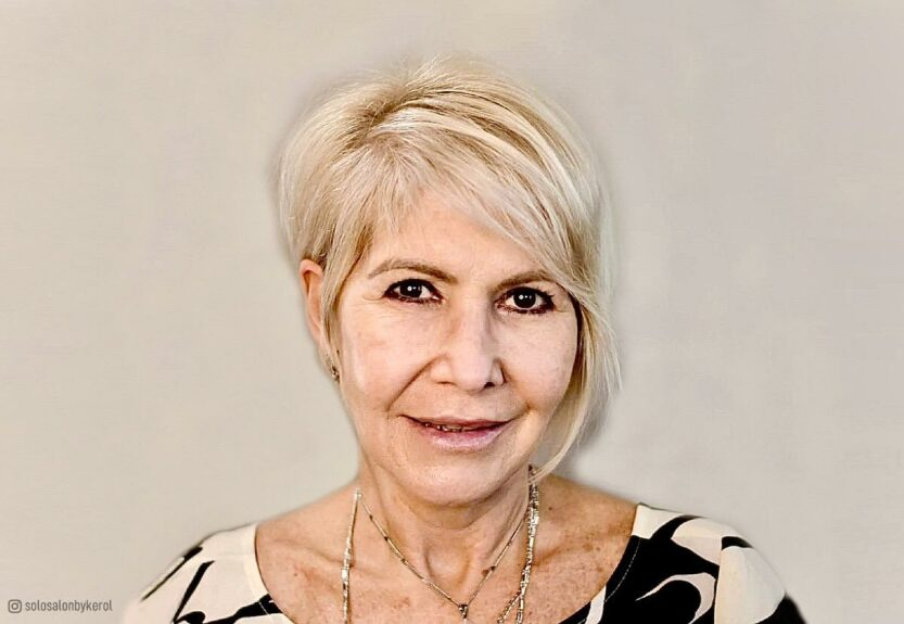 Asymmetrical haircuts for women over 60
