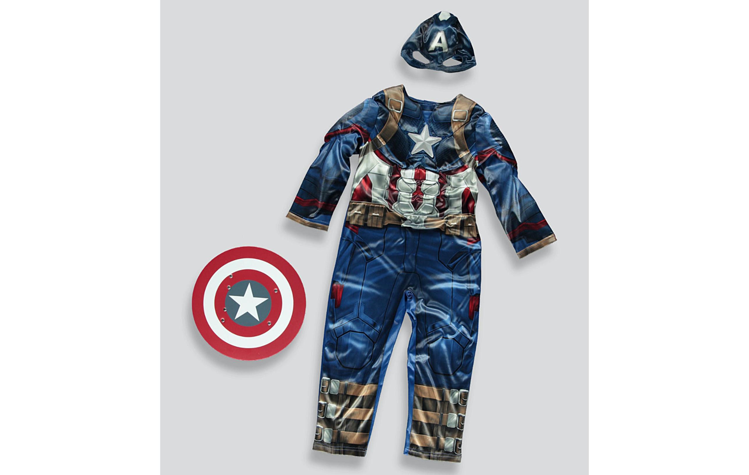 Idée de costume d'Halloween Captain America pour enfants