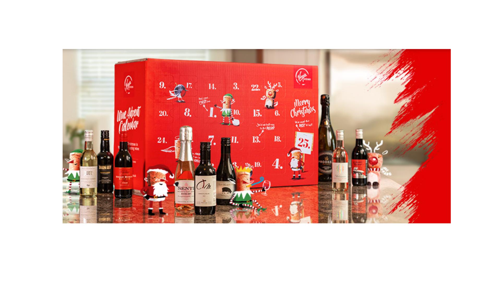 Calendrier de l'avent de Virgin Wines 2021