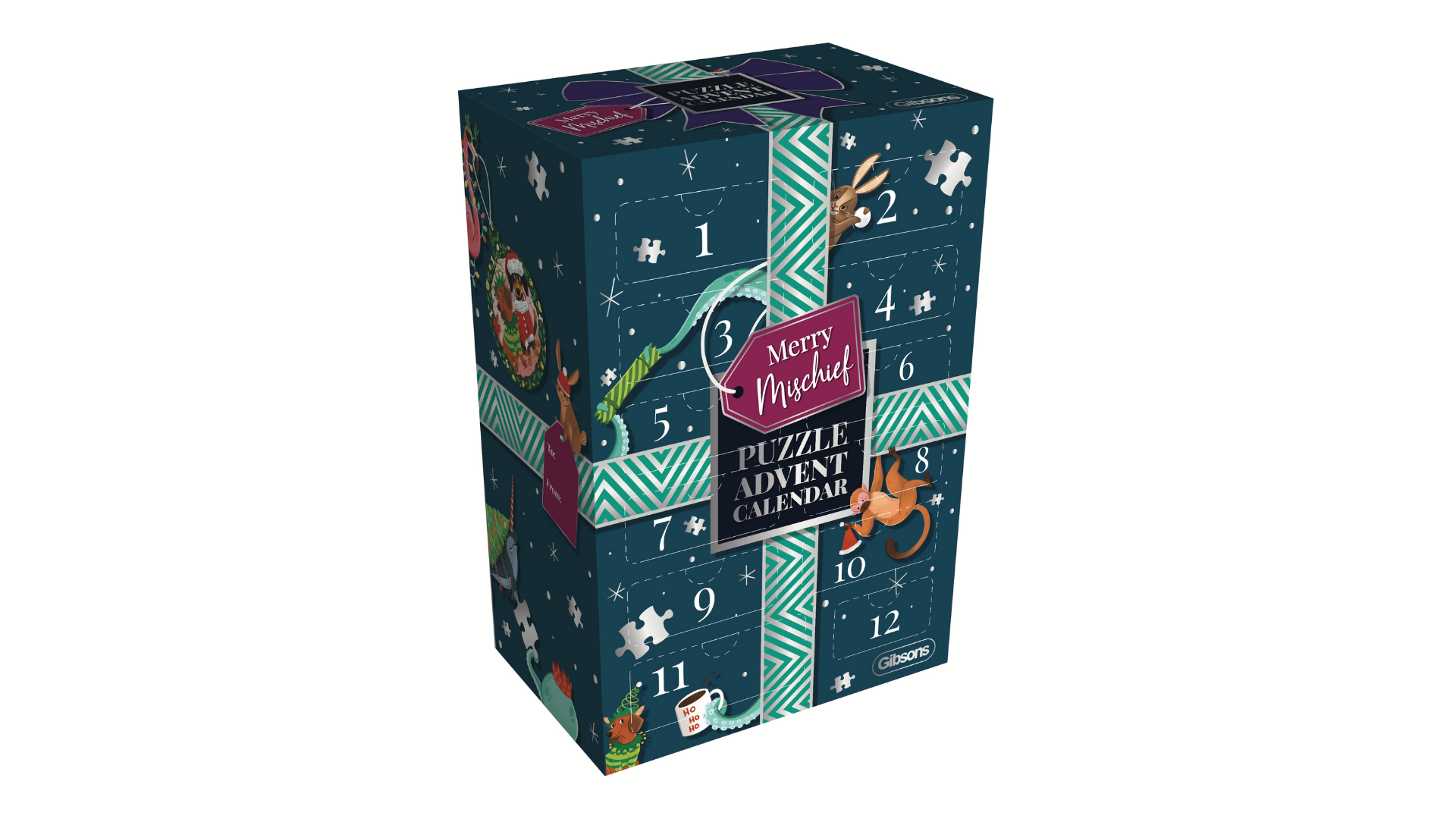 Gibsons Merry Mischief puzzle advent calendar 2021 (12 puzzles)