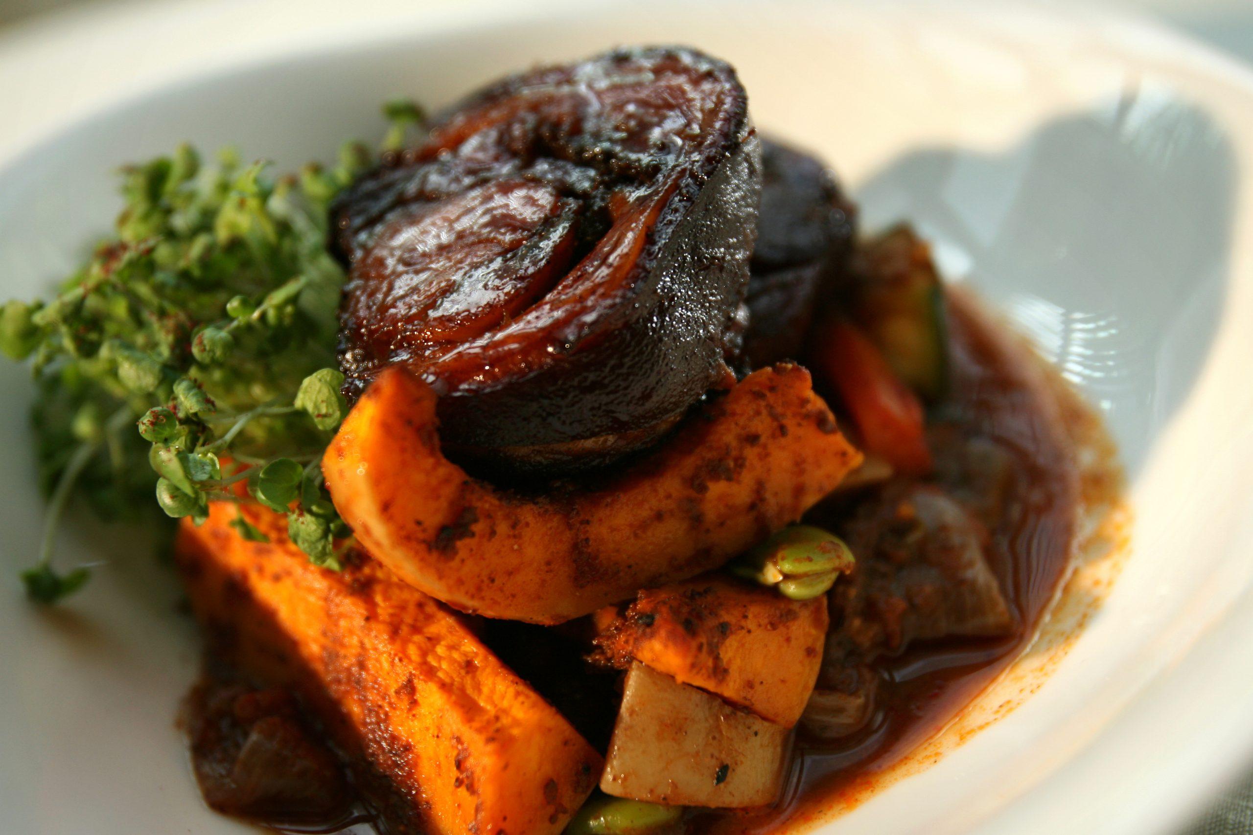 Porc et courge musquée - recette Jane Plan