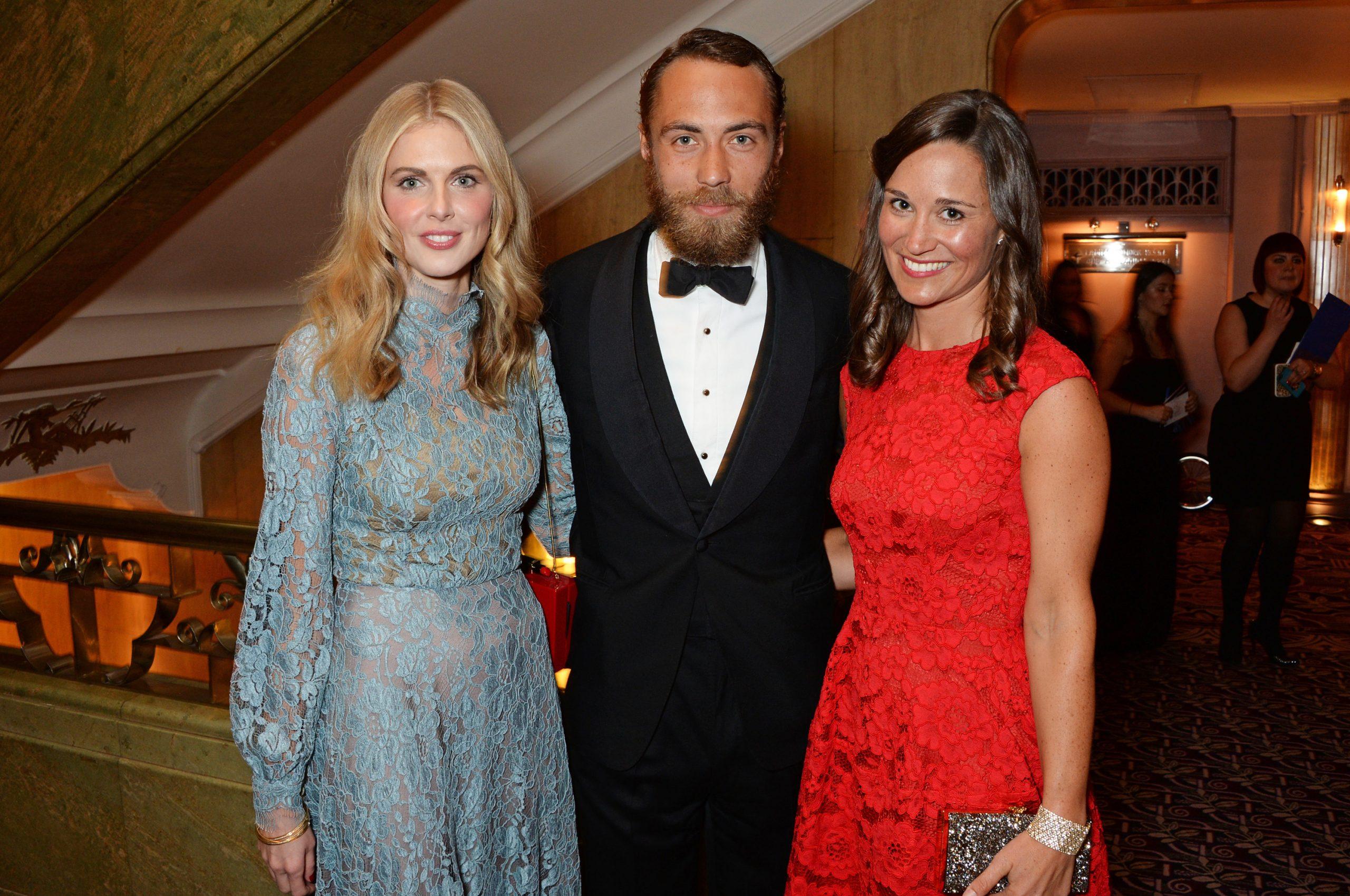 James Middleton avec son ex petite amie Donna Air et sa sœur Pippa Middleton.