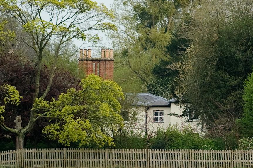 Une vue générale de Frogmore Cottage à Frogmore Cottage le 10 avril 2019 à Windsor, en Angleterre.