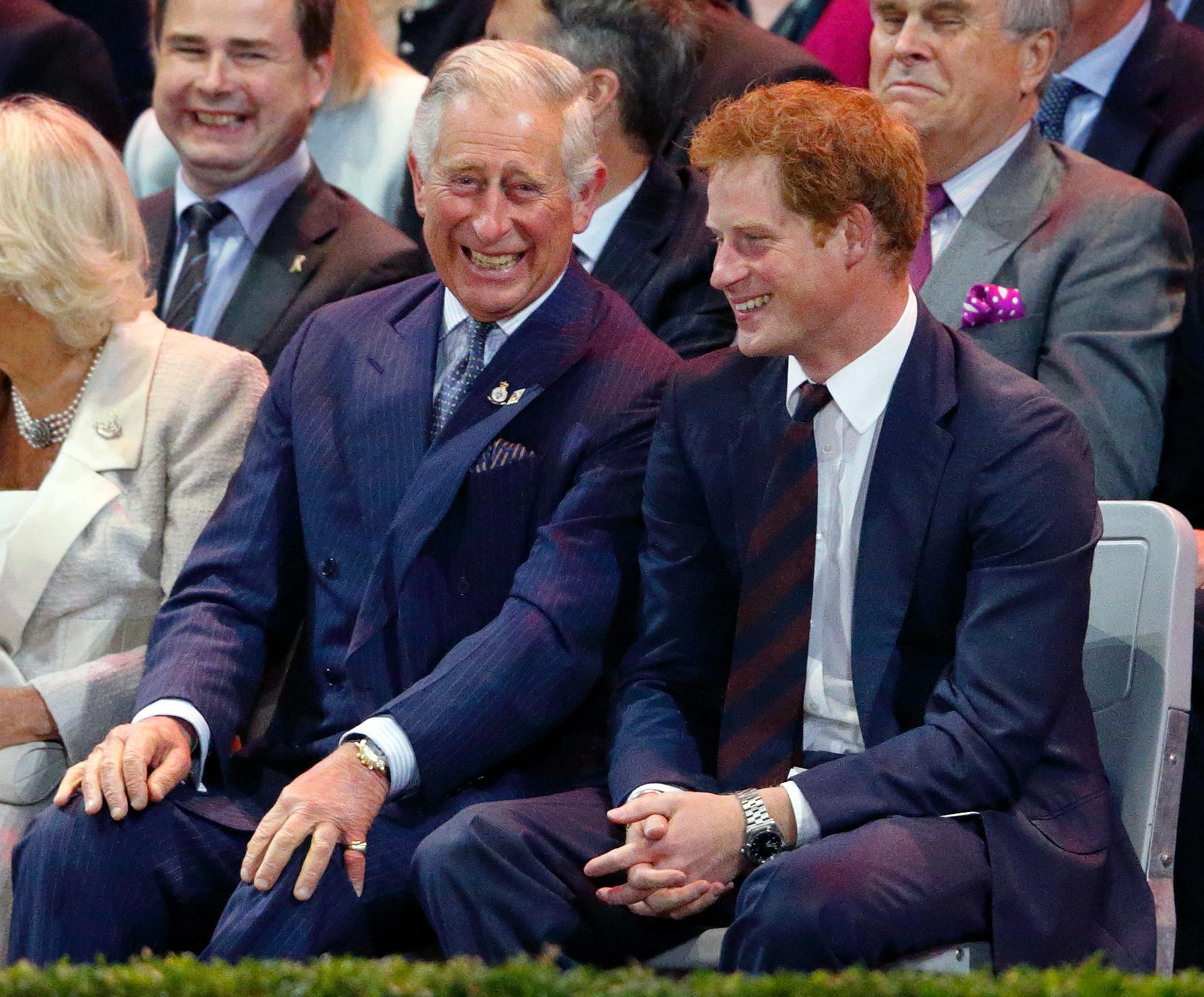 Le prince Harry et le prince Charles