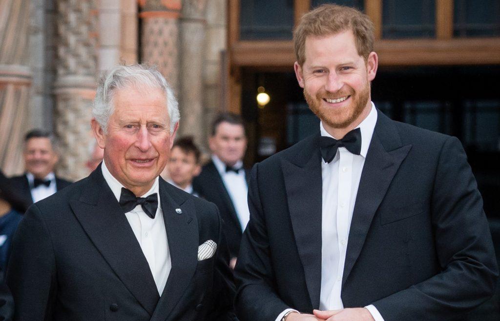 Le prince Charles, prince de Galles, et le prince Harry, duc de Sussex, assistent à la cérémonie de remise des prix de l'Académie des sciences.