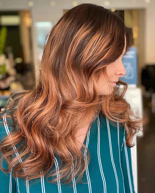 Couleur de cheveux d'automne Rooted Copper