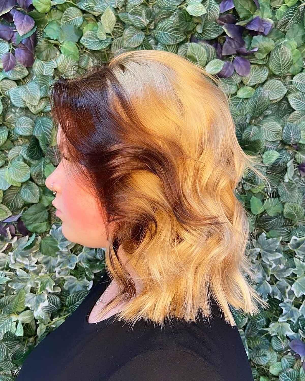 Pièce d'argent brune pour cheveux blonds