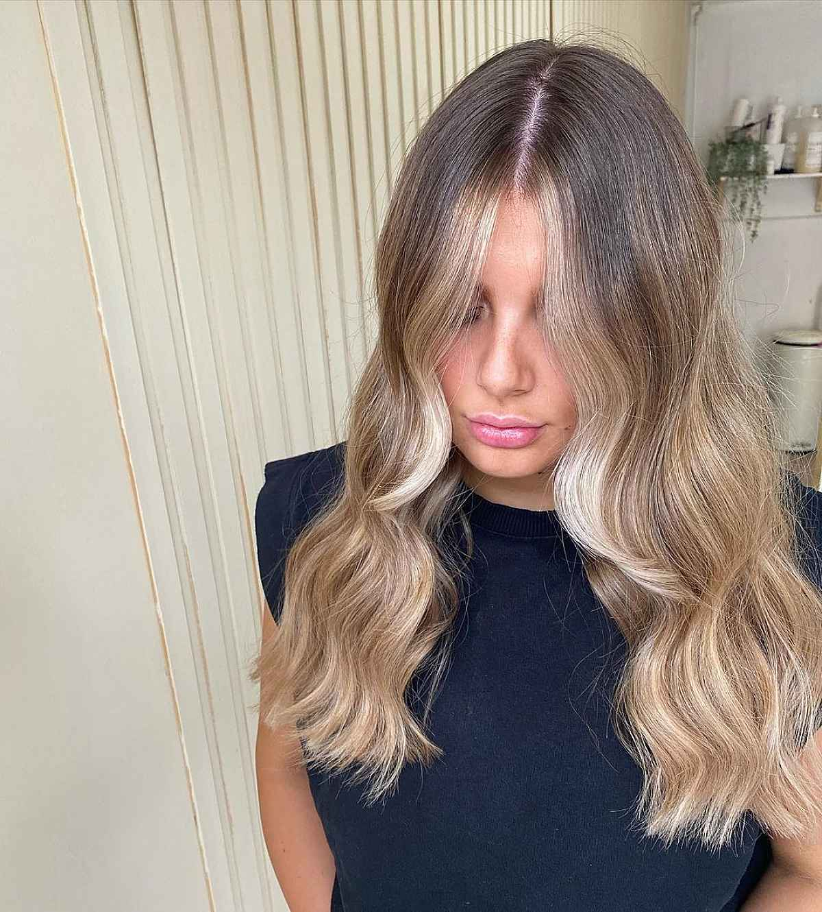 Pièces d'argent Balayage Highlights