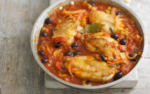 Poulet à l'italienne avec olives