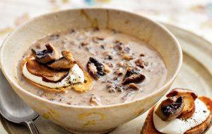 Recette de la soupe aux champignons