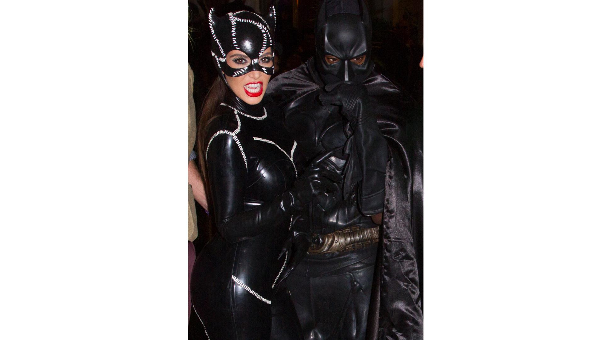 Kim Kardashian en Catwoman et Kanye West en Batman.
