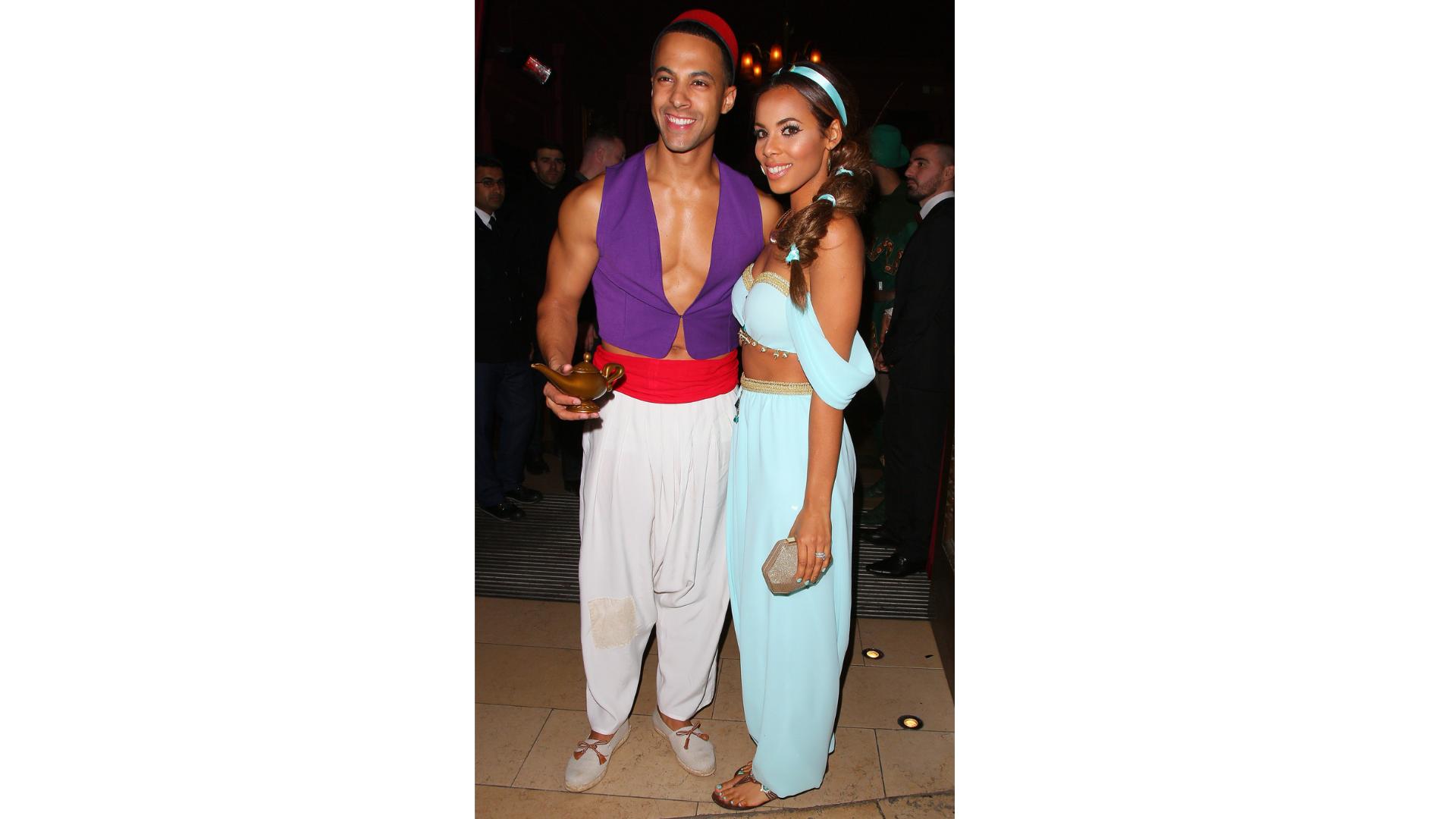 Marvin et Rochelle Humes en tant que Princesse Jasmine et Aladdin.