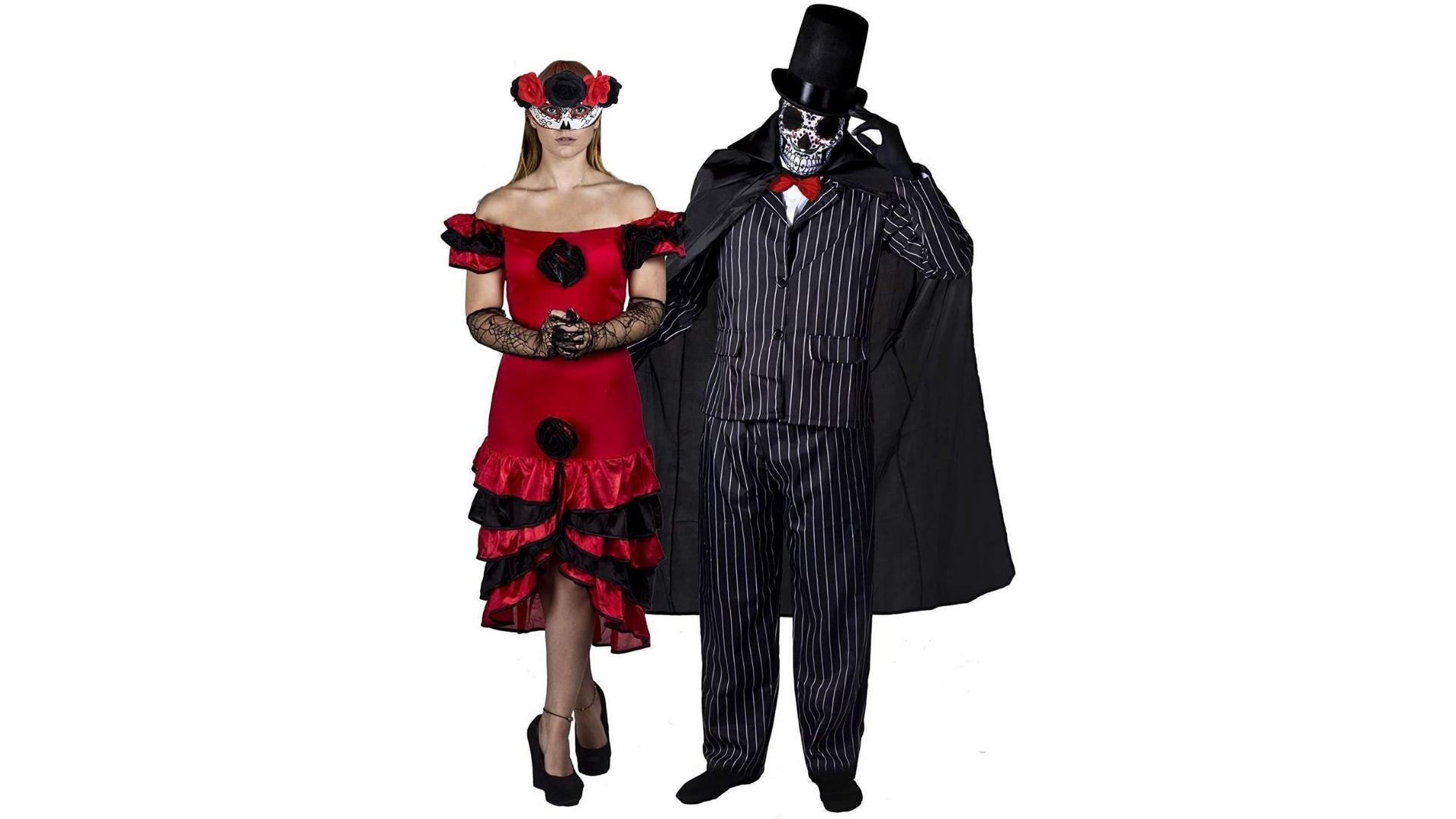 Journée de la mort costumes de couple halloween